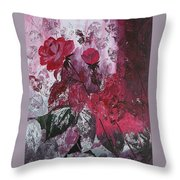 Rose Burst Throw Pillow