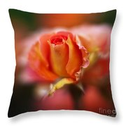 Rose Centerpiece Throw Pillow