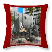 Rose City Throw Pillow