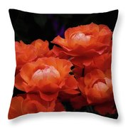 Rose Cluster Throw Pillow