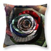 Rose - Collaged Petals Throw Pillow