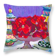 Rose Covered Cake Throw Pillow