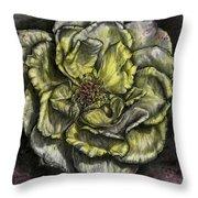 Rose Cream Throw Pillow