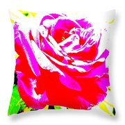 Rose Throw Pillow by Dana Patterson