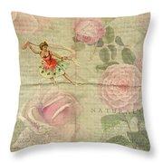 Rose Dancer Throw Pillow