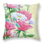 Rose Diptych 1 Throw Pillow