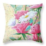 Rose Diptych 2  Throw Pillow