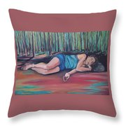 Rose Dreaming Throw Pillow