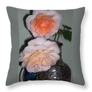 Rose Duet Throw Pillow