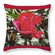 Rose Evening,oil Throw Pillow