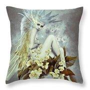 Rose Fairy Throw Pillow