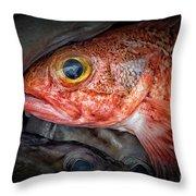 Rose Fish Throw Pillow