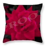 Rose Flower Throw Pillow