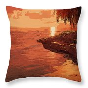 Rose From The Sea Throw Pillow