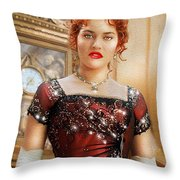 Rose From Titanic Throw Pillow