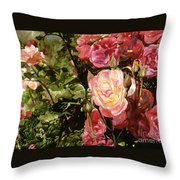 Rose Garden Throw Pillow by Teri Starkweather