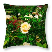 Rose Gardens Throw Pillow