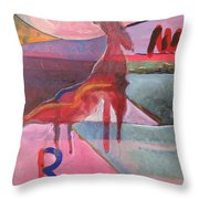 Rose Horse Throw Pillow