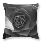 Rose In Black Throw Pillow