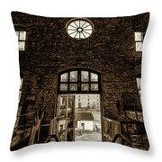 Rose In Decay Throw Pillow