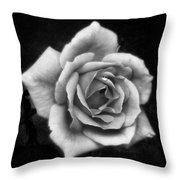 Rose In Mono. #flower #flowers Throw Pillow
