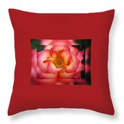 Rose In Reflection Throw Pillow