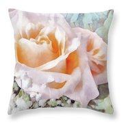 Rose Ivy Throw Pillow