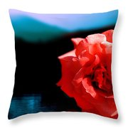 Rose Lake Throw Pillow