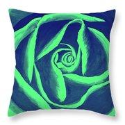 Rose Mint Throw Pillow