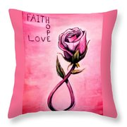 Rose Of Hope Throw Pillow