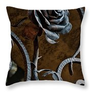 Rose Of Iron Throw Pillow