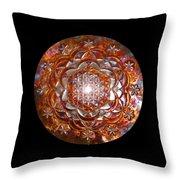 Rose Of Life Copper Lightmandala Throw Pillow