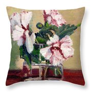 Rose Of Sharon Throw Pillow