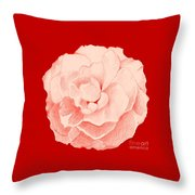 Rose On Red Throw Pillow