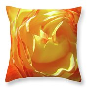 Rose Orange Yellow Roses Floral Art Print Nature Baslee Troutman Throw Pillow