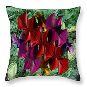 Rose Orchid Throw Pillow