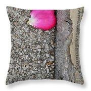 Rose Petal Throw Pillow