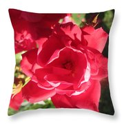 Rose Pink With Guest Throw Pillow