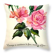 Rose Poem Throw Pillow