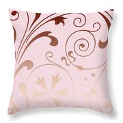 Rose Quartz Gold Komingo Throw Pillow