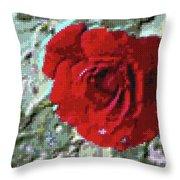 Rose Red Throw Pillow