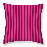 Rose Red Striped Pattern Design Throw Pillow