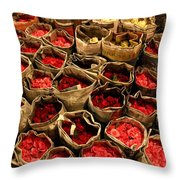 Rose Rolled In Newspaper Throw Pillow