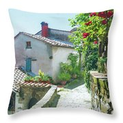 Rose Scented Pathway Throw Pillow