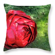 Rose Sculpture Throw Pillow