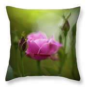 Rose Sentinel Throw Pillow