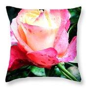 Rose Solitude  Throw Pillow