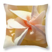 Rose Spiral Flower Art Prints Peach Rose Floral Baslee Troutman Throw Pillow