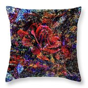 Rose Tile Throw Pillow