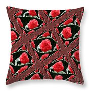 Rose Tiles Throw Pillow